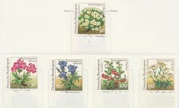 PIA -GERM - 1991  :  Protezione Della Natura. Piante Del Giardino Botanico Di Rennestelggarten Oberhof  -  (Yv  1337-41) - Flora