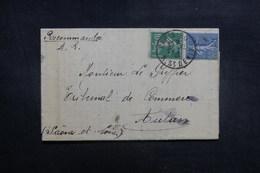 FRANCE - Enveloppe De Paris En Recommandé AR Pour Autun En 1922, Affranchissement Semeuses - L 39409 - 1921-1960: Modern Period