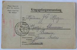 Carte Prisonnier De Guerre Kriegsgefangenensendung 1918 Stalag Dülmen Léon Mazin Mauzé Thouarsais Guerre 14-18 WW1 - Guerre 1914-18
