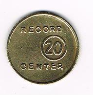 //  PHILIPINNES  TOKEN  FRANCO BROS 20 - RECORD CENTER 20 Circa 1940 - Professionnels / De Société