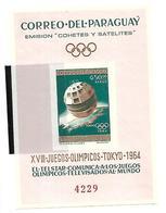 PAR004 - PARAGUAY  - TELECOMUNICAZIONI MONDIALI - OLIMPIADI DI TOKIO 1964 - BF401A - NON DENTELLATO - Estate 1964: Tokio