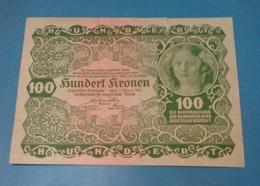 Austria , 100 Kronen 1922 , P-77 , AUNC0 - Oesterreich