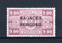 """BA18 MNH** 1935 - Spoorwegzegels Met Opdruk """"BAGAGES - REISGOED"""" - Bagages"""