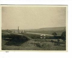 Photo 5.8 X 8.2 Cm - Létanne (08) - Epave De Messerschmit 110 Insigne Aviation Allemande - Aviation