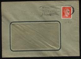 WW II 8 Pfg Adolf Hitler Briefmarke Auf Firmen Briefumschlag Migroma Mit Perfin WAF: Gebraucht  Mit Werbestempel Verme - Briefe U. Dokumente