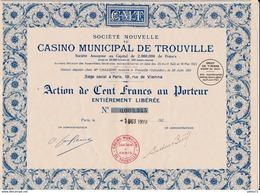 CASINO MUNICIPAL DE TROUVILLE 1923 - Casino
