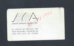 PORTUGAL CDV CARTE DE VISITE J C A JOAQUIN CARVALHO VILA DO CONDE : - Visitenkarten
