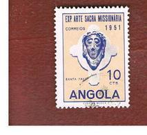 ANGOLA  -  SG 484 - 1952  MISSIONARY ART EXN.: SACRED FACE   -  USED - Angola