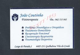 PORTUGAL CDV CARTE DE VISITE JOAO COUTINHO FISIOTERAPEUTA GUILHABREU VILA DO CONDE : - Visitenkarten