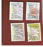 ANGOLA  -  SG 511.518  - 1955   MAP   -  USED - Angola