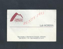 PORTUGAL CDV CARTE DE VISITE LUIS MOREIRA MARKETING TROFA PLIE : - Visitenkarten