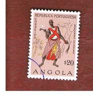 ANGOLA  -  SG 523  - 1957   NATIVES: DANCER -  USED - Angola