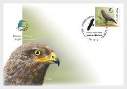 H01 Latvia 2019 Latvian Fund For Nature - Lesser Spotted Eagle, Clanga Pomarina FDC - Lettonia