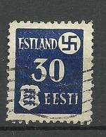 ESTLAND ESTONIA 1941 German Occupation Tartu Dorpat Michel 3 Y O - Occupation 1938-45