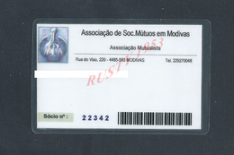 PORTUGAL CARTE ASSOCIAÇAO DE SOC MUTUOS EN MODIVAS : - Cartes