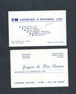 PORTUGAL CDV 2 CARTES DE VISITE CM CARNEIRO MAÇONNERIE GIAO VILA DO CONDE : - Visitenkarten