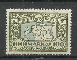 Estland Estonia 1926 Michel 40 Wove Paper (weiches Papier Type) * - Estland