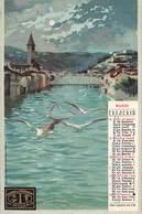 """01236 """"COMPAGNIA DI ASSICURAZIONE DI MILANO - CALENDARIO MARZO 1903 - VERONA"""" VEDUTA, ANIMATA. CART. NON SPED - Publicité"""