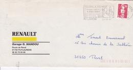Marcophilie TAMPON + FLAMME  PUYLAURENS  (81) - Manual Postmarks