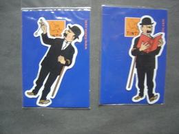 Lot De 2 Magnets - Dupont Et Dupond - Hergé - Tintin - Autocollants