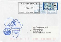Mission CORYMBE 122 Aviso Premier Maitre L'HER Cachet V SPID 10774 28/10/2013 - Posta Marittima