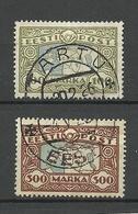 Estland Estonia 1923/1924 Michel 40 & 54 Signed O - Estonie