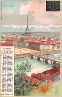 """01243 """"COMPAGNIA DI ASSICURAZIONE DI MILANO - CALENDARIO NOVEMBRE 1903 - TORINO"""" VEDUTA MOLE. CART. NON SPED - Publicidad"""