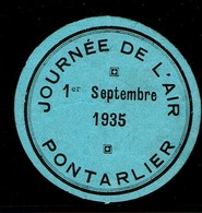 Pontarlier Aviation Meeting Aerien Fete Aerienne Journee De L'air 1935 - Erinnophilie