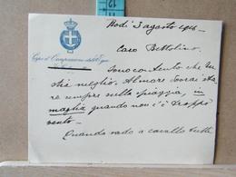 MONDOSORPRESA, LETTERA SU CARTONCINO CORPO DI OCCUPAZIONE DELL' EGEO - RODI - 1916 - Manoscritti
