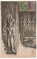 CPA - CAMBODGE - ANGKOR-VAT - Groupe De Tévadas, Divinités Bienfaisantes - Kambodscha