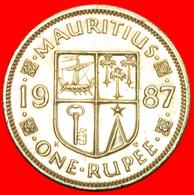 + SHIP (1987-2016): MAURITIUS ★ 1 RUPEE 1987! LOW START ★ NO RESERVE! - Mauritius