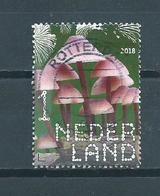2018 Netherlands Pilze,grote Bloedsteelmycena Used/gebruikt/oblitere - Gebruikt