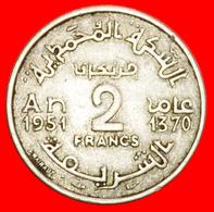 + PROTECTORATE OF FRANCE: MOROCCO ★ 2 FRANCS 1370 (1951)! LOW START ★ NO RESERVE! - Marokko