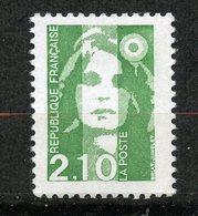 France, Spink/Maury, 2622a**, Marianne Du Bicentenaire 2,10f Vert Sans Bande De Phosphore , Signé, Expertise,MNH - Variétés: 1990-99 Neufs