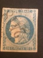 Timbre N° 46A Oblitération Le Mont St Michel En Manche. - 1871-1875 Ceres