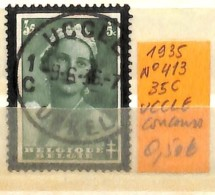 NB - [831535]TB//O/Used-Belgique 1935 - N° 413, UCCLE, Concours, Reine, Familles Royales - Oblitérés