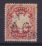 Bayern Perfin Perforé Lochung 'FAG.' 10 Pf. Wappen (2 Scans) - Bayern (Baviera)