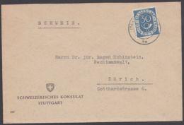 "Mi-Nr. 132, ""Posthorn"", EF ""schweizer Konsulat"" In Die Schweiz, 1953 - Brieven En Documenten"