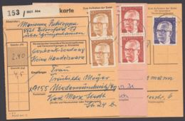 "Mi-Nr. 639, 44, 91, EF Bzw. MeF Auf 3 Paketkarten ""Aha"" - BRD"