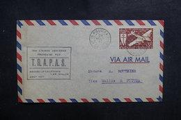 NOUVELLE CALÉDONIE - Enveloppe 1er Vol Nouvelle Calédonie / Wallis En 1947, Affranchissement Plaisant - L 39437 - Neukaledonien
