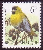 BE1996 - N° 2665 XX -  Tarin Des Aulnes - Papier CPFL (Coated Paper Limited - Fluo) - 1985-.. Oiseaux (Buzin)