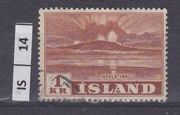 ISLANDA   1948Vulcano 1 Kr Usato - Usati