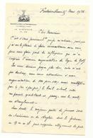 Lettre Du Vice-président Du Golf De Fontainebleau - 1926 - Ohne Zuordnung