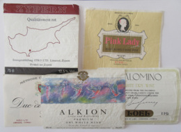 Chypre - Lot De 5 étiquettes De Vins / Alcools Chypriotes - Colecciones & Series