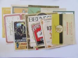 Russie / URSS - Lot De 17 étiquettes De Vin / Alccol Russes - Collezioni & Lotti