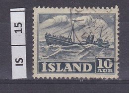 ISLANDA  1950Lavoro, 10 Au Usato - Usati