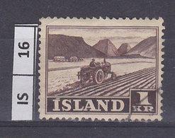 ISLANDA  1950Lavoro, 1 Kr Usato - 1944-... Repubblica