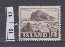 ISLANDA  1954Lavoro E Panorama 5 Aur Usato - Usati