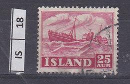ISLANDA  1954Lavoro E Panorama 25 Aur Usato - 1944-... República