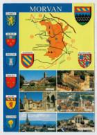 MORVAN    VEDUTE  E  STEMMI           (VIAGGIATA) - Bourgogne